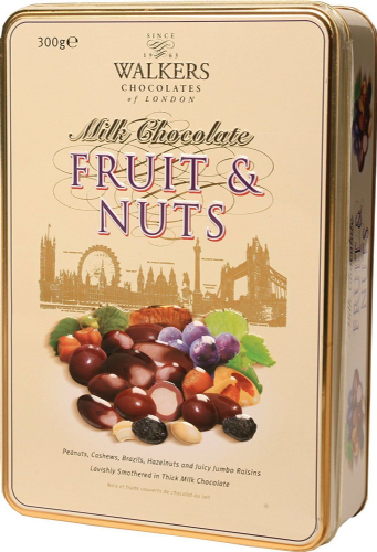 Walkers Milk Chocolate Nuts and Fruits Tin 300 g